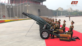 56门礼炮100响致敬党的百年历程