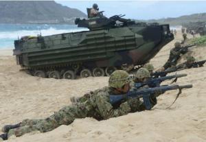 日美法首次在日本登岛训练 日媒扯上钓鱼岛和台湾