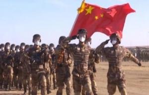 中国军队帅气亮相俄罗斯