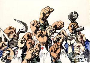 以笔作枪,共战疫情——著名画家卢洪祥战疫漫画 好评如潮