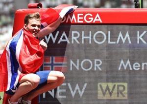 男子400米栏-新世界纪录!挪威名将跑出45秒94夺冠
