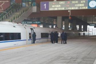 哈尔滨通往省内、省外多个方向的列车近期停运