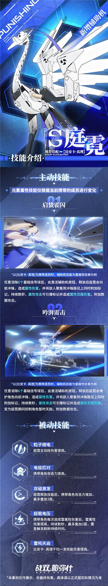 又萌又炸,《战双帕弥什》两大飞行作战辅助机「庭霓」「沃托」即将上线!