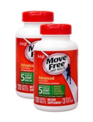 Move free益节不同颜色功效:红色保养、绿色缓痛、蓝色强健骨骼