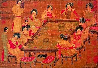 《唐人宮乐图》,作者不详,现藏于台北故宫博物院。