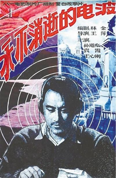 图为1958年电影《永不消逝的电波》海报。