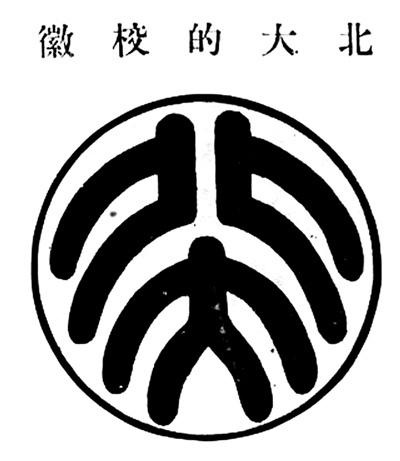 鲁迅设计的北大校徽,原载于1921年印行的《北大生活写真》