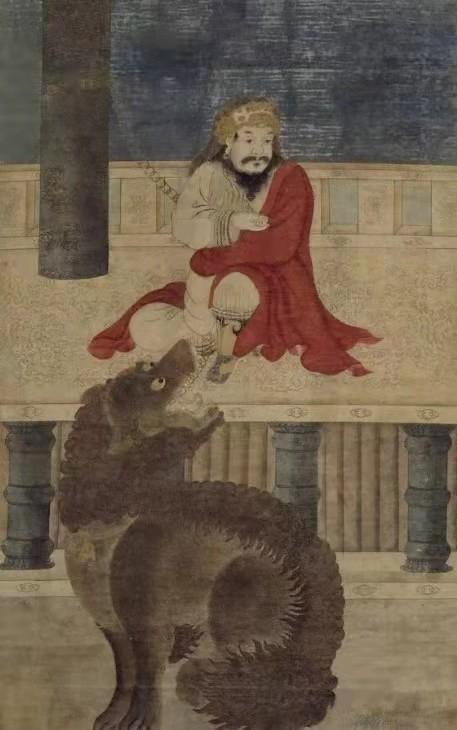 明 佚名《西旅贡獒图》局部 北京故宫博物院藏