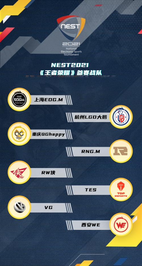 虎牙独播NEST2021王者荣耀重庆QG战队打响巅峰对决