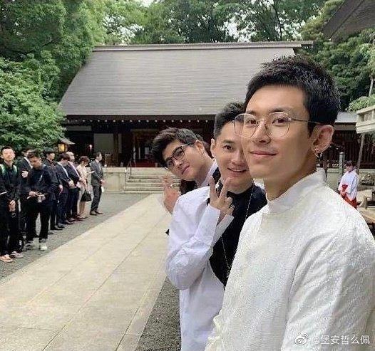 在乃木神社参加婚礼引争议,张哲瀚道歉:我不亲日 我是中国人