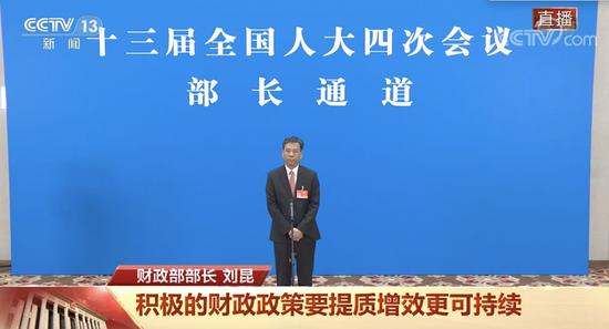 刘昆:财政政策保持基本稳定,不急转弯