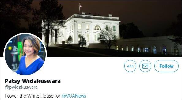 女记者韦达库斯瓦拉推特主页截图