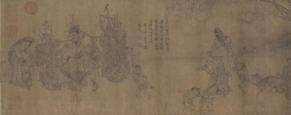 南宋 李嵩 《货郎图》卷 故宫博物院藏 (非此次展品)