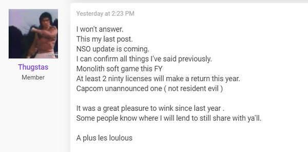 传今年两款任天堂老IP回归 卡普空上有新作未公开