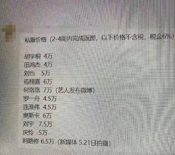 钱真好赚!网曝明星穿衣推广费 小爱豆一次都能赚7万