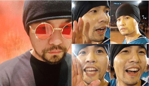 42岁周杰伦罕晒自拍照 戴红色墨镜蓄浓密大胡子