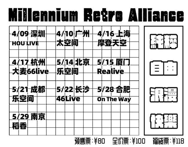 千禧复古联盟VOL.4深圳站演出时间及门票价格(附购票入口)
