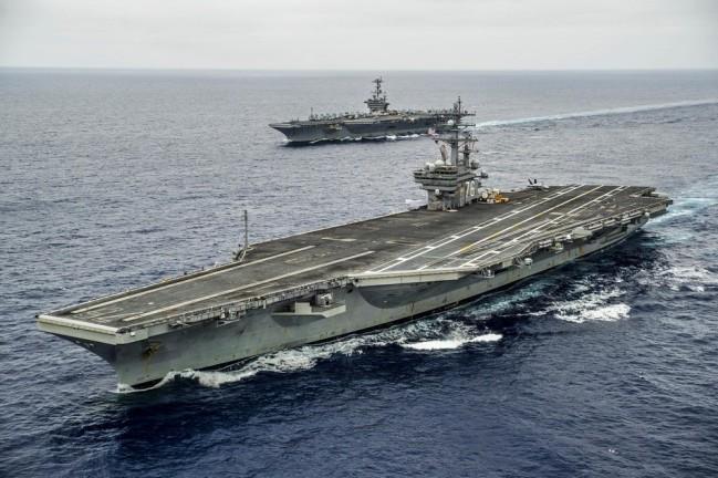 """美国从阿富汗撤军,""""里根""""号航母如何掩护?"""