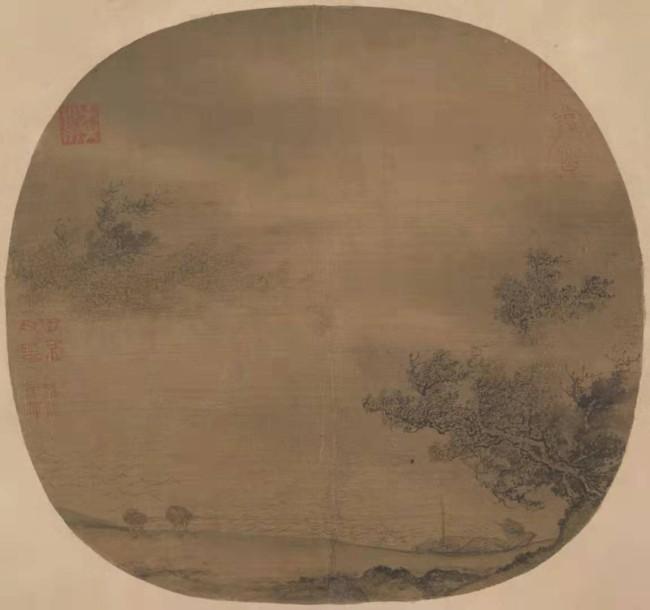 南宋 佚名  风雨行舟图  大都会博物馆藏