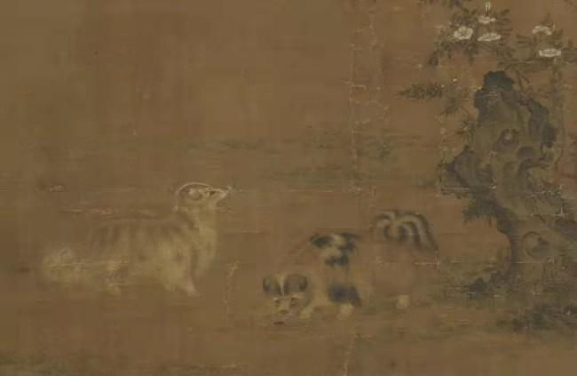 清 刘亿《仙犬图》局部 台北故宫博物院藏