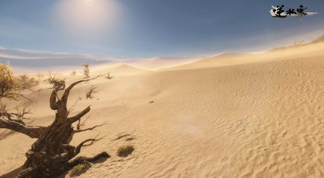 鸿音流派地图首曝 每颗沙砾如真实世界般浮沉飘扬
