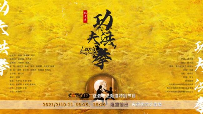 纪录片《功夫洪拳》除夕夜央视首播 以佛山武术文化为代表
