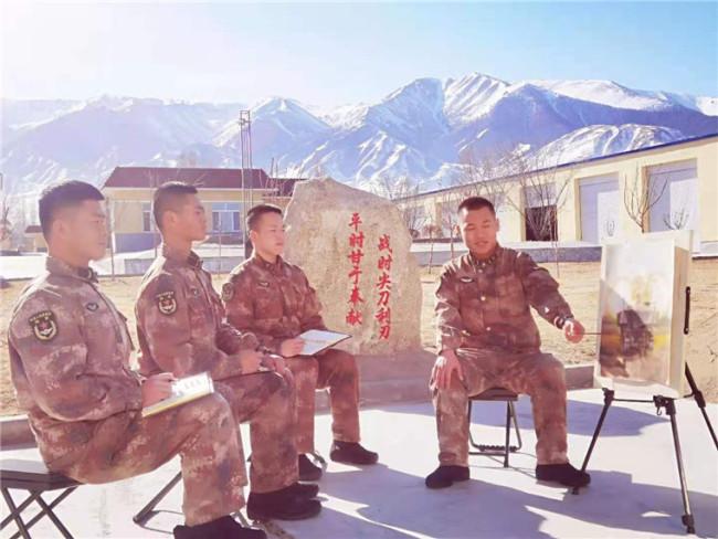 边防官兵手绘军旅风采!