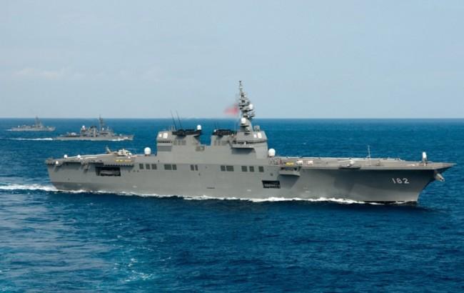 日本出动准航母监视3艘中国海军舰艇通过大隅海峡