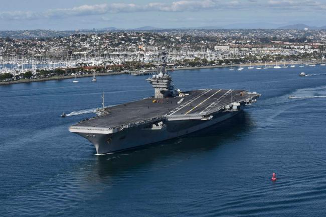 """美国""""罗斯福""""号将""""挪窝"""",为迎接F-35上舰升级"""