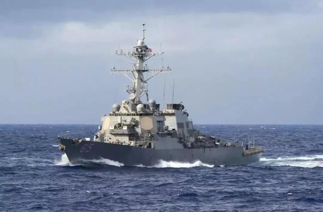 美导弹驱逐舰未经中国政府批准非法闯入南沙