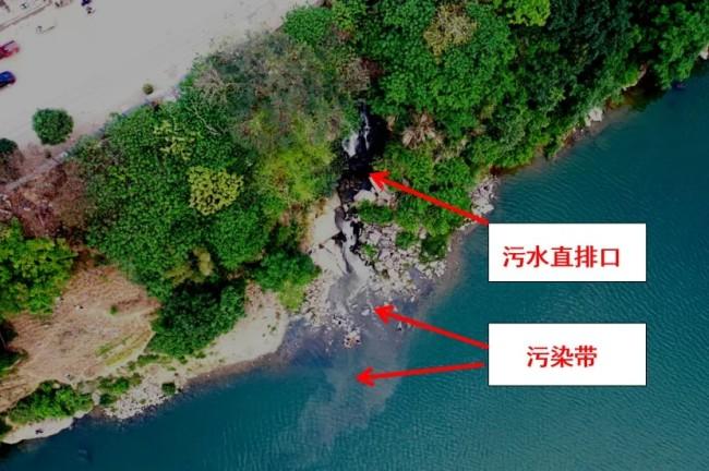 污水直排左江(丽江南路排放口)