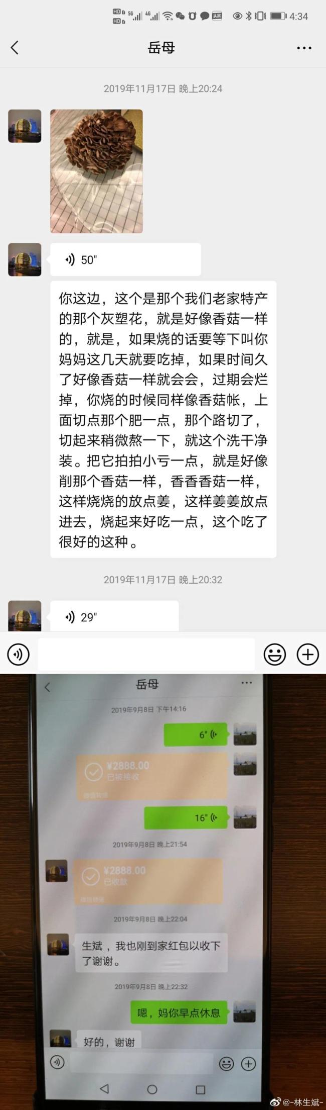 林生斌连发5文回应再婚生女
