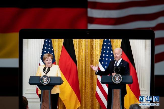 拜登与德国总理默克尔举行会晤