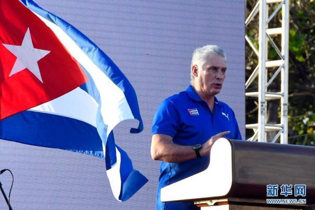 古巴国家主席谴责美国在古巴煽动骚乱