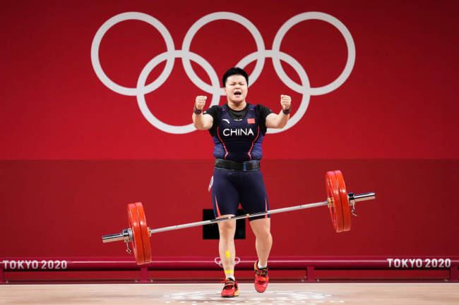 第25金!汪周雨获得举重女子87公斤级金牌