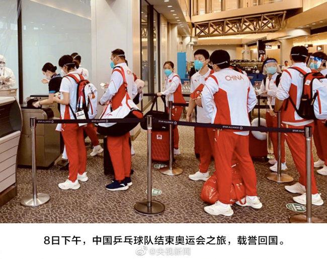 回到祖国怀抱啦!最后一批中国奥运健儿抵京