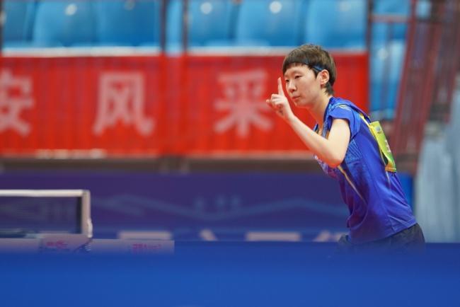 王曼昱全运会乒乓球女单夺冠