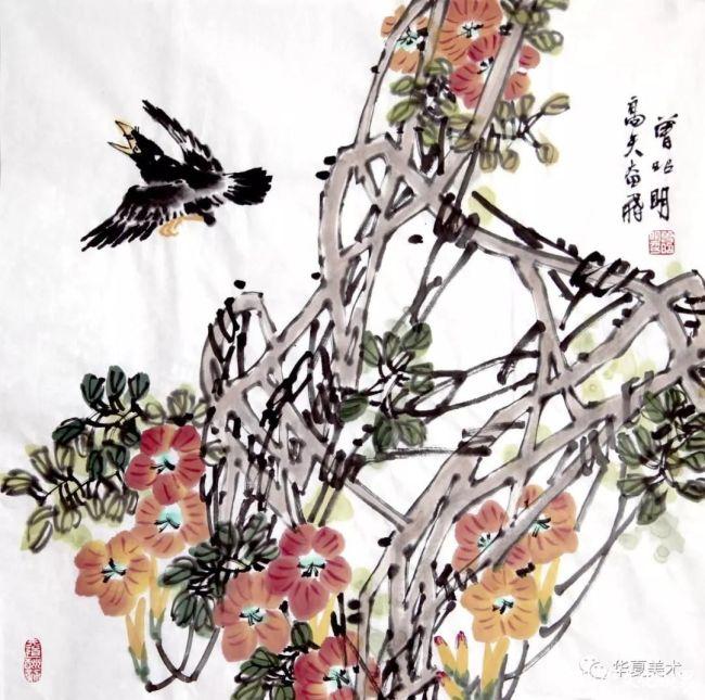 写花鸟、写性情、写生命——著名画家曾昭明在传统中寻求创新与突破,成为花鸟画家的典范