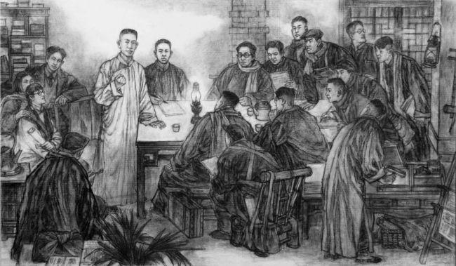 """让王尽美、邓恩铭等革命先烈""""活""""起来——著名画家王磐德、周群谈《寒夜星火》创作历程"""