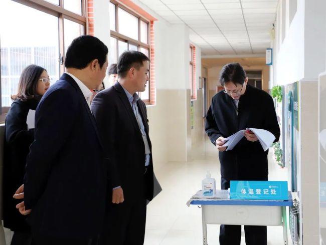 山东师大基础教育集团总校长苗禾鸣到长清湖实验学校调研