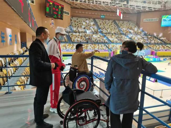 西安经开区为残疾人观众提供暖心观赛体验