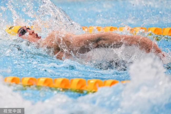 [图]男子100米仰泳半决赛:徐嘉余列第六进入决赛