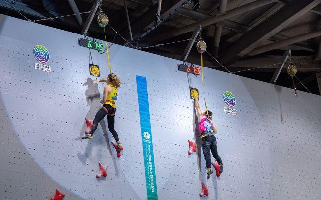 6秒74!牛笛超女子速度攀岩世界纪录