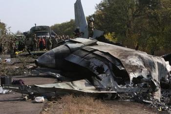 乌克兰军机坠毁现场